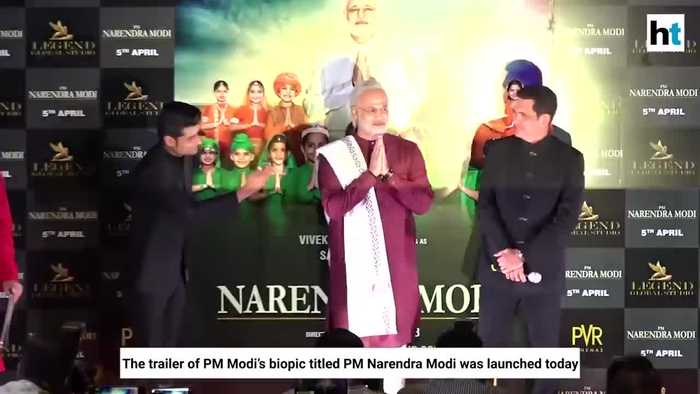 PM Narendra Modi biopic Vivek Oberoi dresses as PM at trailer launch