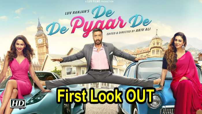 Ajay Devgn, Tabu and Rakulpreet in 'De De Pyaar De' | First Look OUT