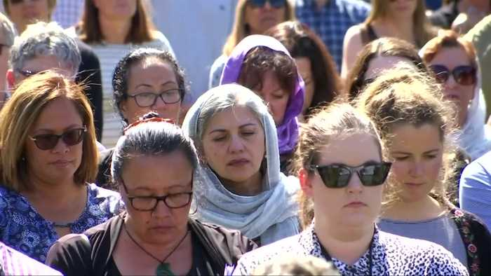 New Zealanders hold moment of silence for mosque shooting victims