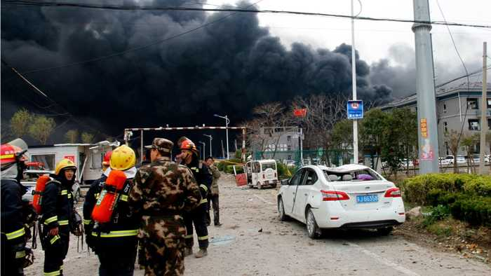 China Chemical Plant Blast Kills 62, Injures Hundreds