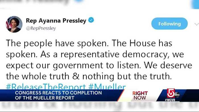 Here's what Mass. representatives are saying about the Mueller report