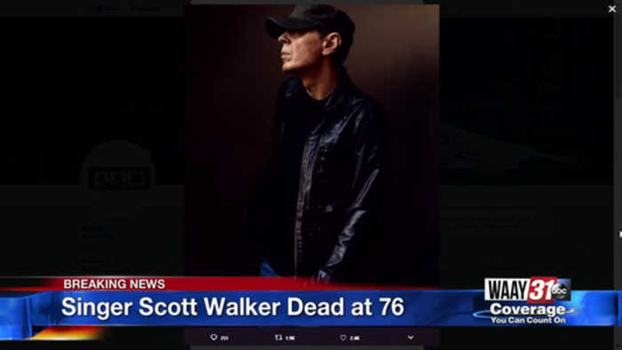 Singer Scott Walker Dead at 76