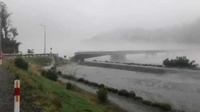Surging Floodwaters Bring Down Bridge in New Zealand's South Island