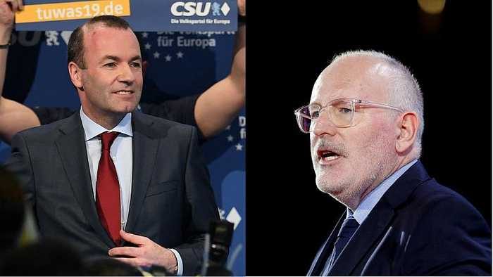 European elections 2019: Weber and Timmermans in TV debate as the race for EU's top job heats up