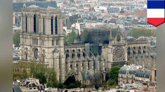 France's Notre Dame Cathedral to be rebuilt in the coming years