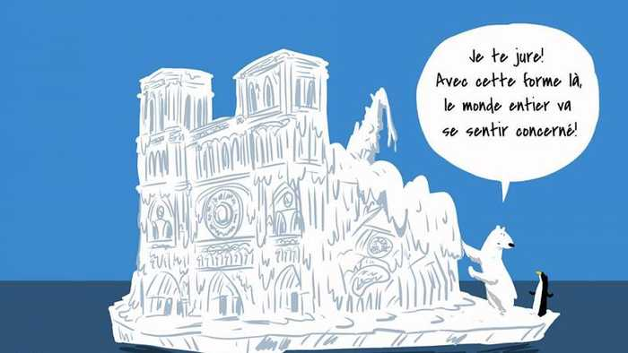 Viral climate cartoon uses satire to question Notre Dame donations | #TheCube