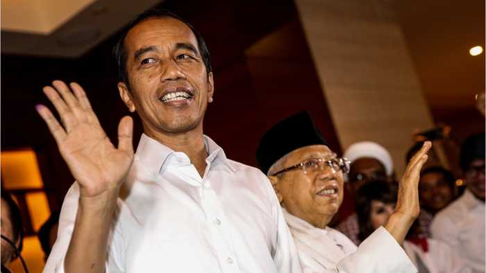 Indonesia President Widodo Declares Victory
