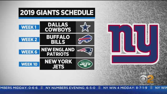 Jets And Giants Schedules Announced