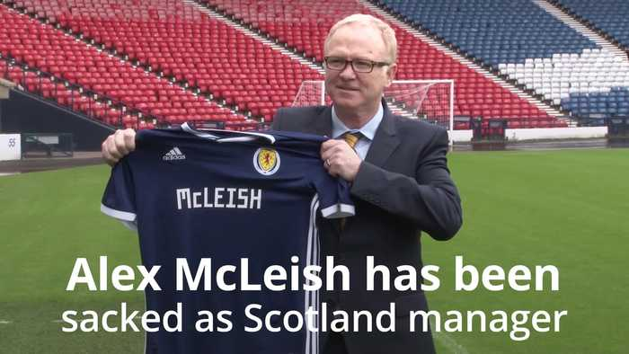 Alex McLeish sacked as Scotland manager