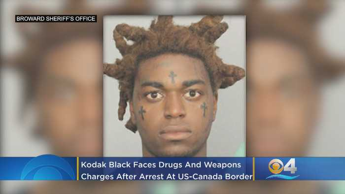 South Florida Rapper Kodak Black Faces Drug, Weapons Charges At US-Canada Border