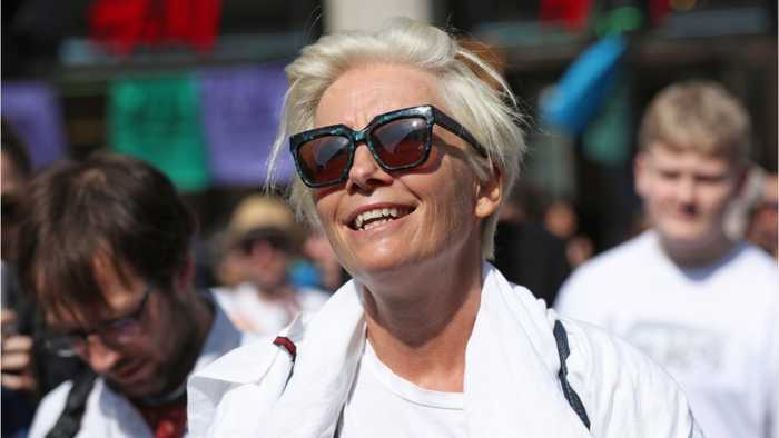 Emma Thompson Joins Peaceful Climate Protest In London