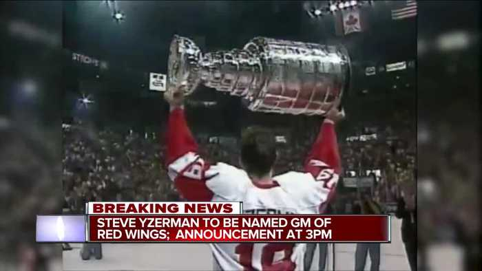 Steve Yzerman to be named GM of Red Wings