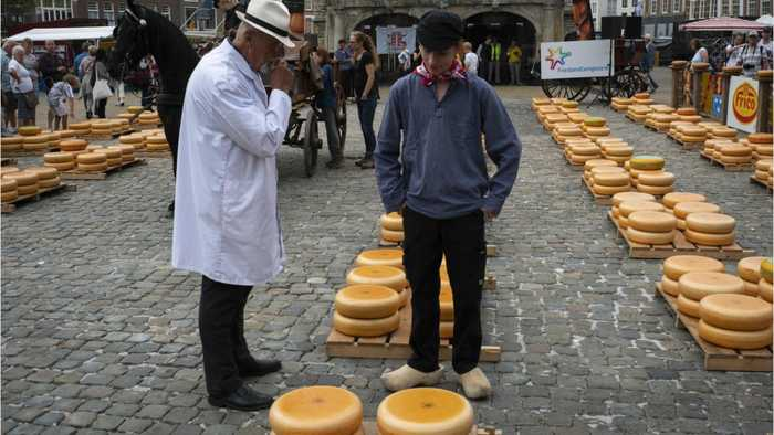 Dutch Cheesemakers In The City Of Gouda Are Concerned About U.S. Tariffs