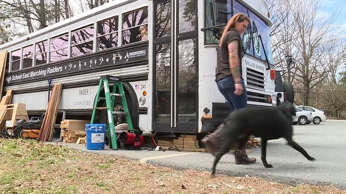 Marine Turning Old School Bus into Mobile Art Therapy Studio to Help Veterans