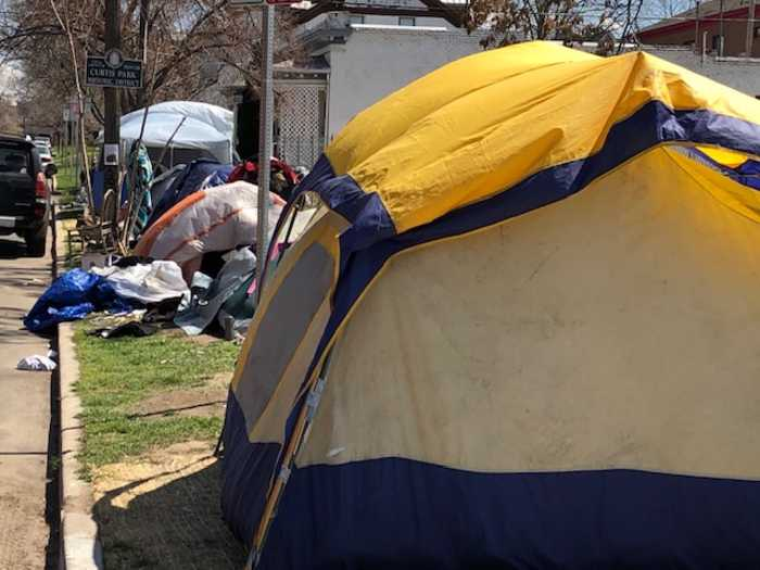 Residents want porta-potties for homeless tent city