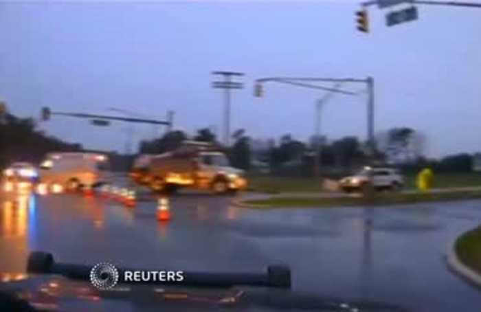 Worker narrowly escapes electric wire fire in New Jersey