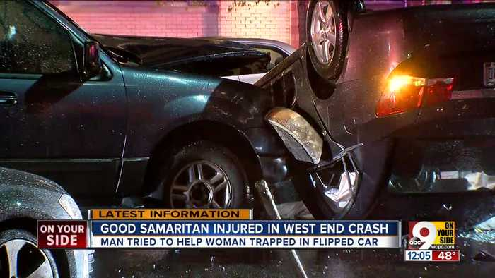 Good Samaritan injured in West End crash