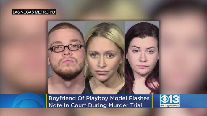 Boyfriend Of Former Playboy Model Arrested In Connection To Doctor's Killing Flashes Note In Court