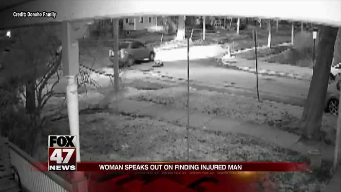 Home security camera footage shows moments after a man collapses in street