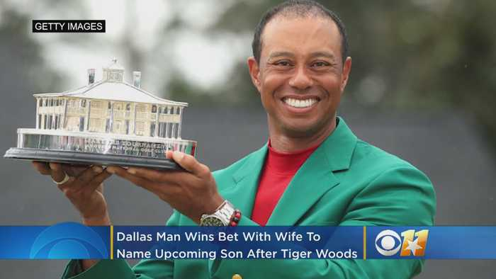 Dallas Man Wins Bet With Wife To Name New Son 'Tiger' After Woods' Masters Win
