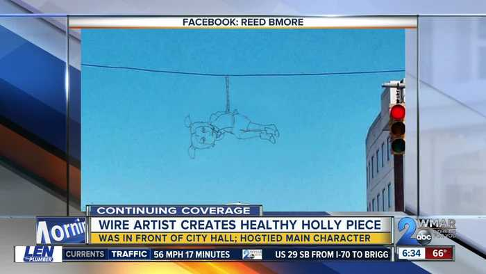 Wire artists creates Health Holly piece