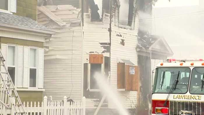 Fire ravages home impacted in Merrimack Valley gas explosions