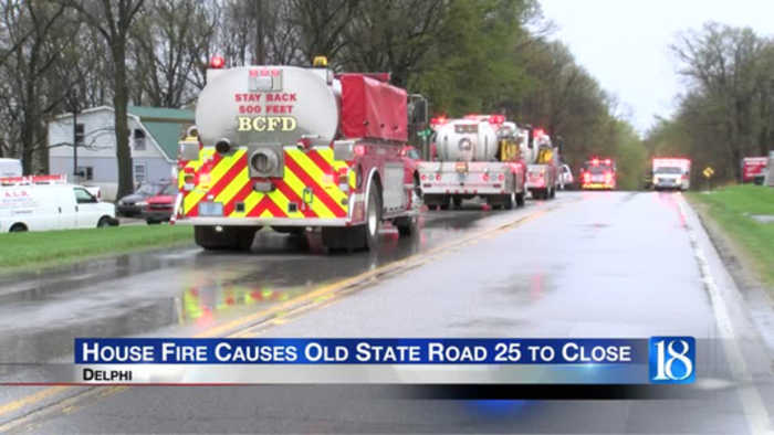 Old state road 25 closes due to a house fire