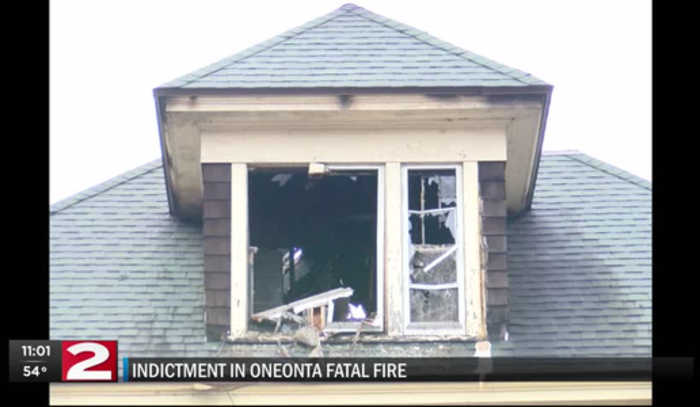 Police searching for man accused in Oneonta fatal fire