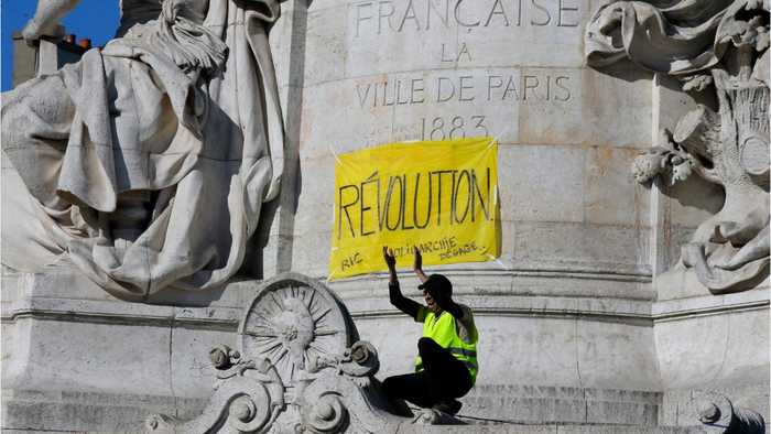Yellow Vest Protesters Clash With Police In 23rd Week Of Protests