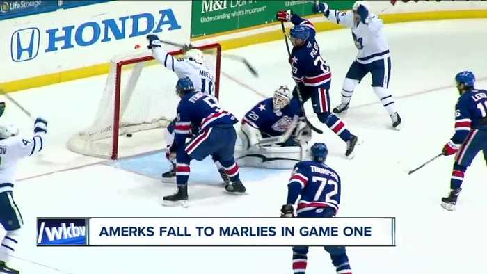 Amerks fall to Marlies 4-1 in first game of Calder Cup Playoffs