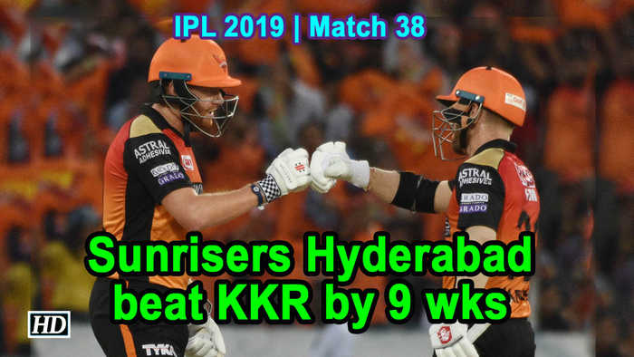 IPL 2019 | Match 38 | Sunrisers Hyderabad beat KKR by 9 wks