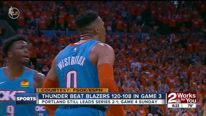 Thunder Beat Blazers, Still Trail 2-1 in Series
