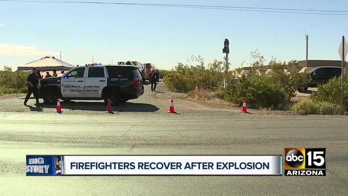 Firefighters recovering after explosion