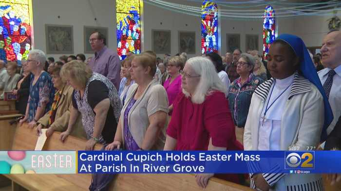 Cardinal Cupich Holds Easter Mass At Parish In River Grove