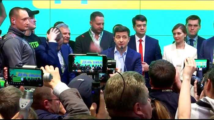 Volodymyr Zelensky wins Ukraine's presidential vote: Exit polls