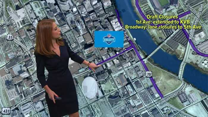 Draft week in Nashville: More road closures in effect before Thursday