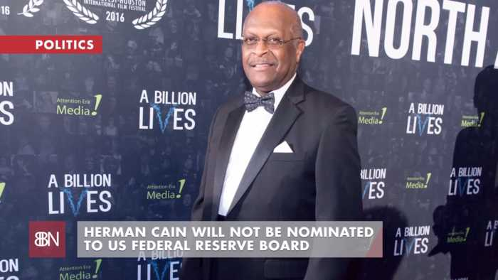 Herman Cain Is Out At Federal Reserve Board