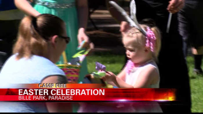 Hundreds of Camp Fire survivors come out to celebrate Easter