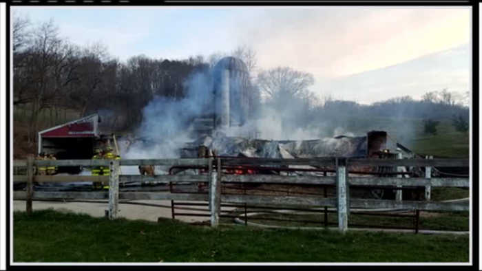 Authorities investigating cause of barn fire near Sparta