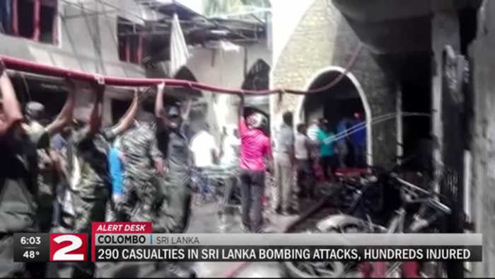 Nearly 300 casualties in Sri Lanka bombing attacks, hundreds more injured