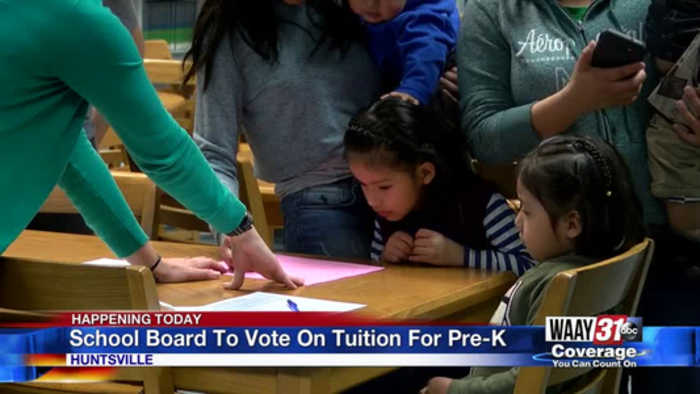 Huntsville Board of Education votes on Pre-k cost