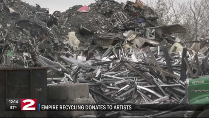 Recycled materials turn to art with Earth Day donation in Utica