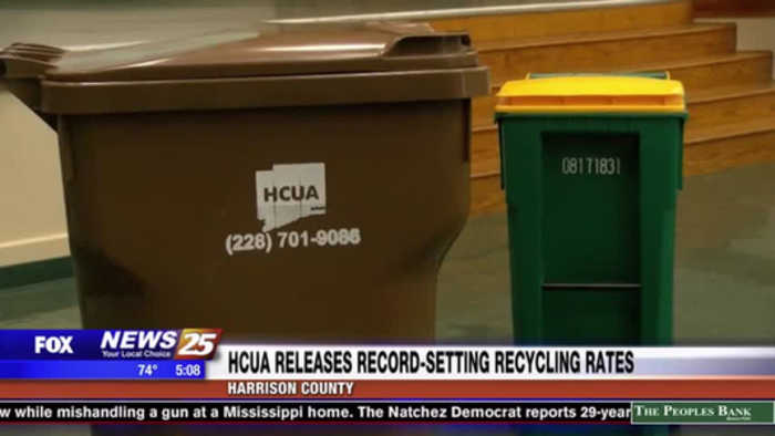 HCUA released record-setting recycling rates