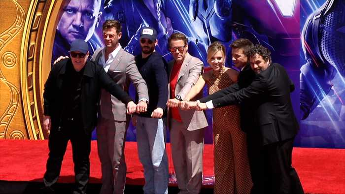 'Avengers: Endgame' Cast Place their Handprints in Cement