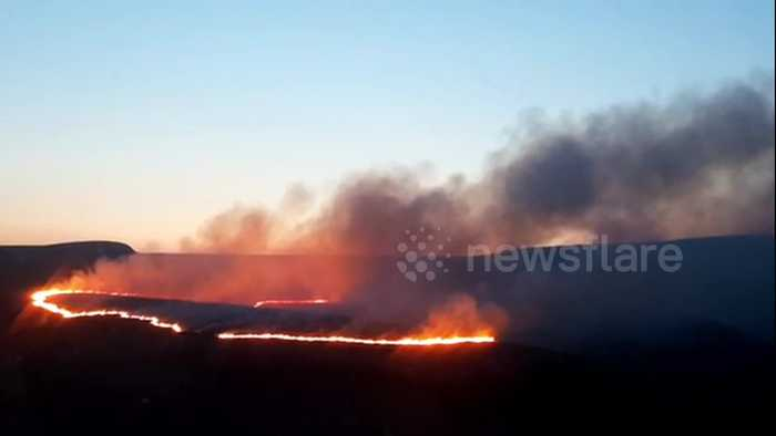 Another moorland fire breaks out in West Yorkshire