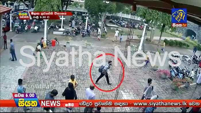 Watch: CCTV shows man with rucksack entering Sri Lankan church before explosion