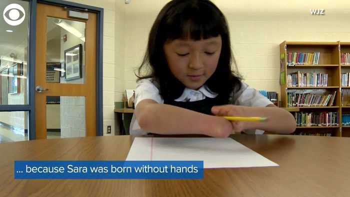 WEB EXTRA: Girl With No Hands Wins Handwriting Contest