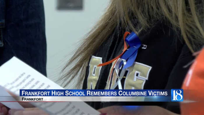 Frankfort High School Commemorates Columbine School Massacre