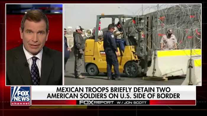 Mexican troops detain American soldiers at gunpoint on U.S. side of border
