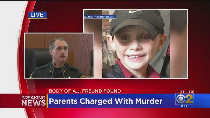 Police Announce Murder Charges Against Parents Of A.J. Freund